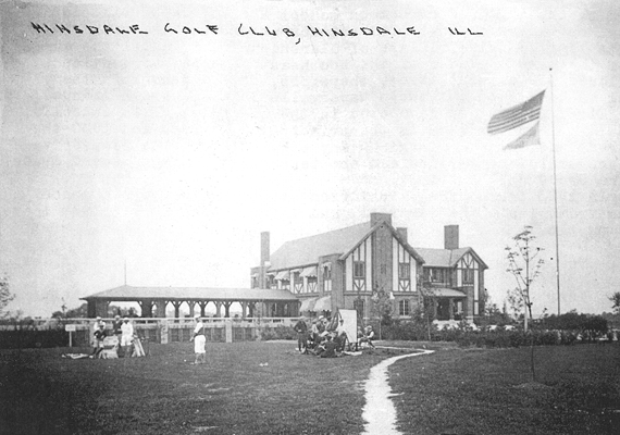 Black and white picture of Hinsdale Golf Club
