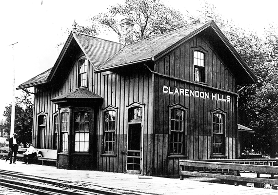 Clarendon Hill's early train station